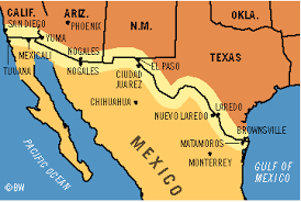 map usa mexico border in my book crossing the wire the character travels to many