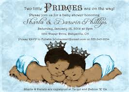 prince twins baby shower invitation for twin boys african
