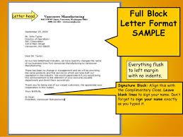 best ideas of business letter written in full block format about