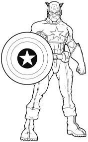 coloring pages avengers captain america coloring page best coloring pages