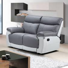 Stylish Recliner by Sofas Center Gray Leather Reclining Sofa Recliner Light Grey