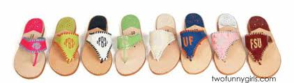 Most Comfortable Leather Sandals Palm Beach Leather Monogram Sandals Two Funny Girls