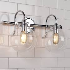 retro glass globe bath light 2 light shades of light
