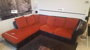 canapé d angle cuir et tissu achetez canapé d angle occasion annonce vente à genas 69