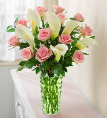 Calla Lily Bouquets Pink Rose And White Calla Lily Bouquet Flowers And Floral Art Com