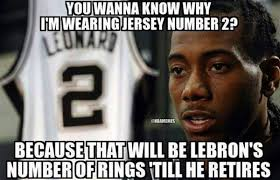Spurs Memes - nba memes on twitter kawhi leonard the lebron james stopper