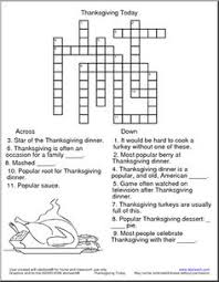 thanksgiving crossword puzzle crossword crossword puzzles and