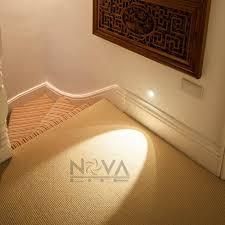solar stair lights indoor recessed lighting modern indoor stair wall regarding ideas elegant