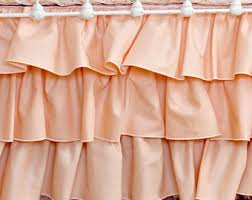 peach crib skirt etsy