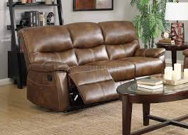 faux leather reclining sofa reclining sofa in weathered brown faux leather w options