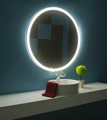 dimmable lighted bathroom mirror round galaxy 40 x 40 u2013 ib mirror