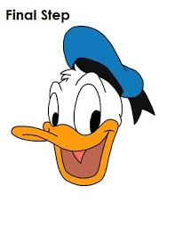 draw donald duck