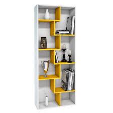 Book Shelf Walmart Zigzag Bookshelves Spacetrick White Zig Zag Book Zig Zag Shelf