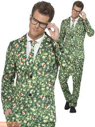 christmas suit mens christmas suit brussel sprout santa hat patterned fancy