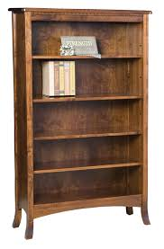 Pine Wood Bookshelf Amish Furniture Hand Crafted Solid Wood Bookcases Amish Traditions