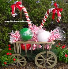 Easy To Make Christmas Decorations For Outside by How To Diy Outdoor Candy On The Seasonal Home Blog Christmas