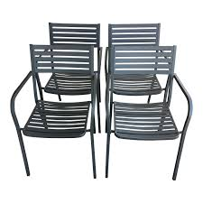 Stackable Outdoor Dining Chairs Emu Segno Stackable Outdoor Dining Chairs Set Of 4 Design Plus