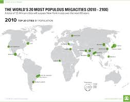 world map by cities map the 20 most populous cities in the world by 2100