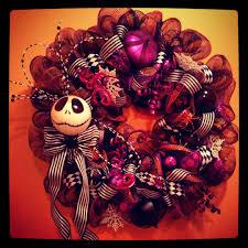 nightmare before christmas wreath halloween decoration purple