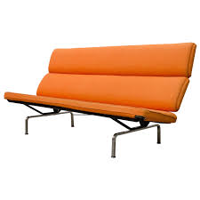 Herman Miller Padded Blue Vintage Chair Compact Sofa By Charles Eames For Herman Miller Eames Vintage