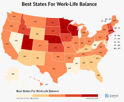 Best States To Work In   these are the 10 best states for work life balance zippia