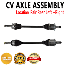 rear cv joint axle shaft pair set for chrysler 300 dodge charger