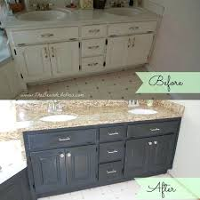 painting bathroom cabinets with chalk paint painted vanities bathrooms before and after of bathroom vanity