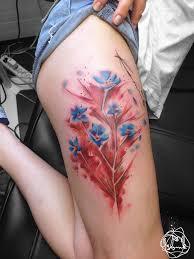 pretty flowers on thigh best design ideas
