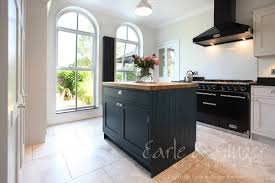 Painted Kitchen Floor Ideas Bespoke In Frame Shaker Hand Painted With Farrow U0026 Ball U0027cornforth
