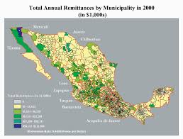 Mexican Map 1 Gis Tracks Earnings Sent Home By Mexican Migrants