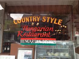 country style hungarian restaurant masticating molars