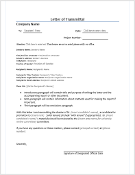 letter of transmittal u2013 microsoft word templates