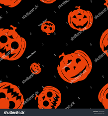 seamless black pattern halloween hand drawn stock illustration
