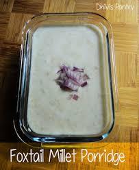 cuisine milet foxtail millet porridge thinai khoozh foxtail millet curd rice