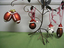 6 glass sport ornaments ebay