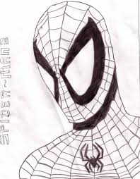 spiderman head shot outline 2 wingless butterfly55 deviantart