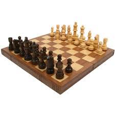amazon com walnut book style chess board with staunton chessmen