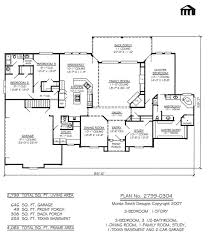 654060 one story 3 bedroom 2 bath french style house plan