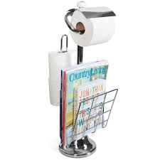 amazon com toilet paper caddy tissue dispenser and stand with
