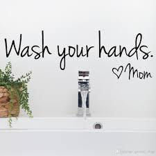 bathroom wall stickers wash your hands love mom waterproof art
