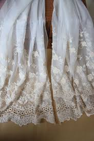 Lace Fabric For Curtains Off White Lace Fabric Crochet Embroidered Tulle Gauze Lace Fabric