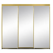 interior sliding doors home depot 120 in x 84 in polished edge mirror framed with gasket interior