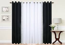 Black And White Curtain Designs White And Black Curtains Amazon Co Uk