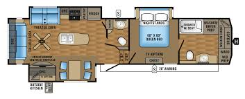 Entertainment Centre Floor Plan 2018 Jayco Eagle Fifth Wheel Travel Trailer Rv Centre