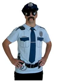 Halloween Shirt Costumes Men U0027s Police Costumes Mens Cop Halloween Costume