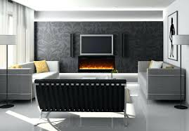 built in electric fireplace with tv above tv over fireplace set