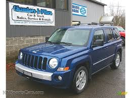 patriot jeep blue 2010 jeep patriot limited 4x4 in deep water blue pearl 501645