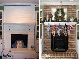 brick house paint painting brick fireplace before and after paint