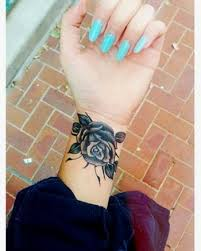 colorful flower wrist tattoos for tats