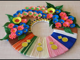 Art And Craft For Home Decoration Diy Wall Decoration Idea How To Make A Paper Wreath For Home